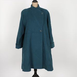 Christian Dior Authentic Vintage Long Wool Swing Coat size 12